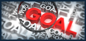 Image of a graphic with the word Goal highlighted in red.